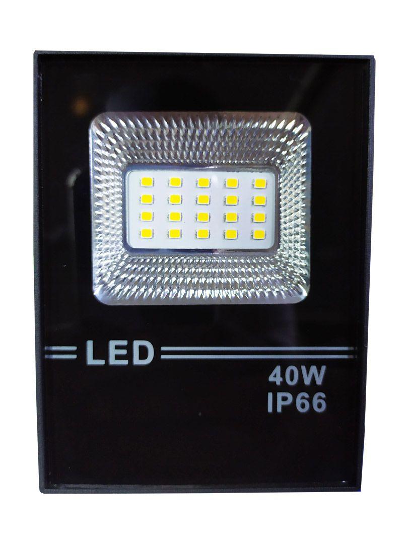Refletor Led Holofote Smd 40w Microled IP66 Branco Quente Bivolt