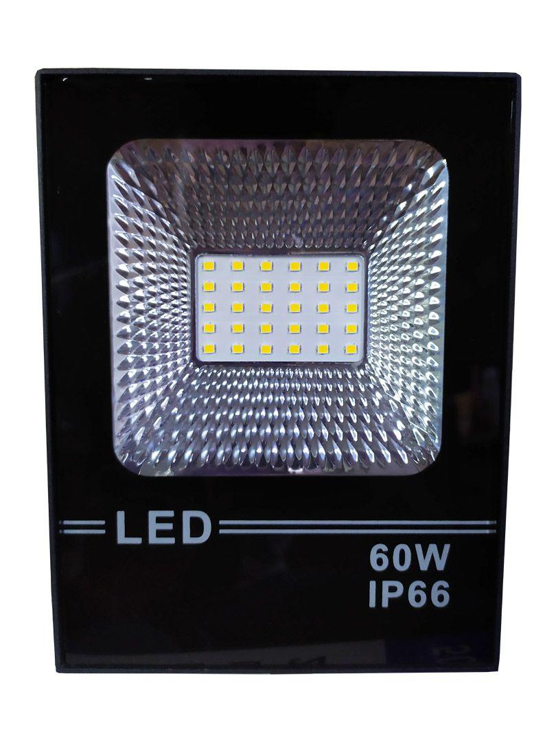 Refletor Led Holofote Smd 60w Microled IP66 Branco Quente Bivolt