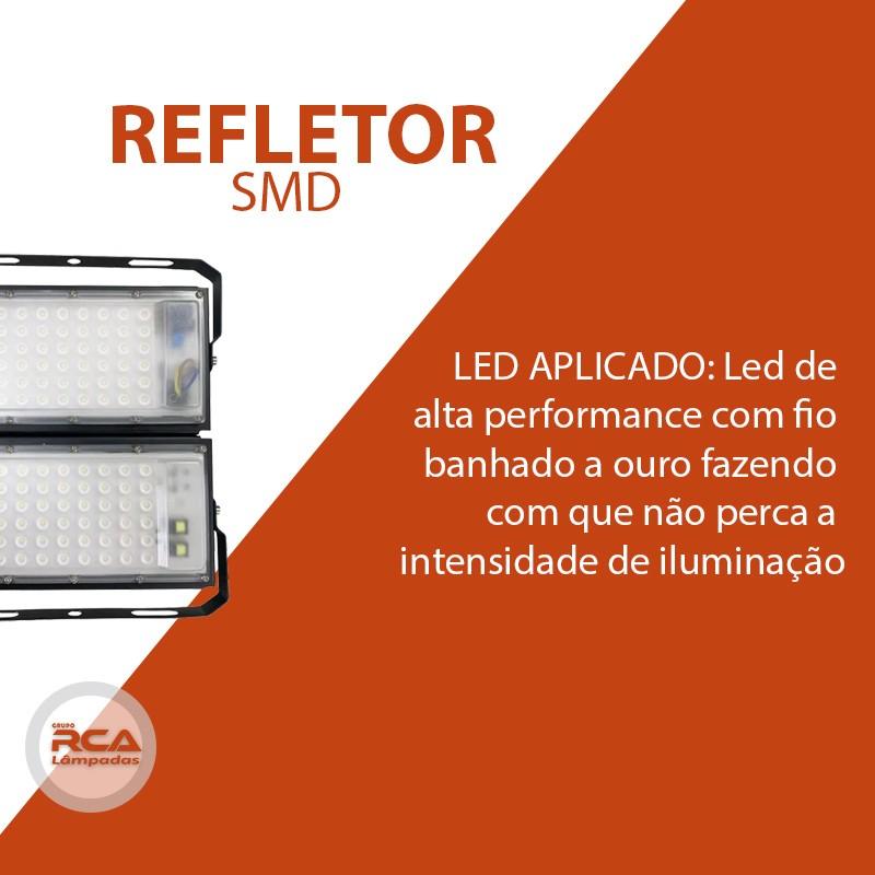Refletor Led Modelo 2021 Flood light Number one 100w IP68 2 Modulos (Tecnologia Militar)