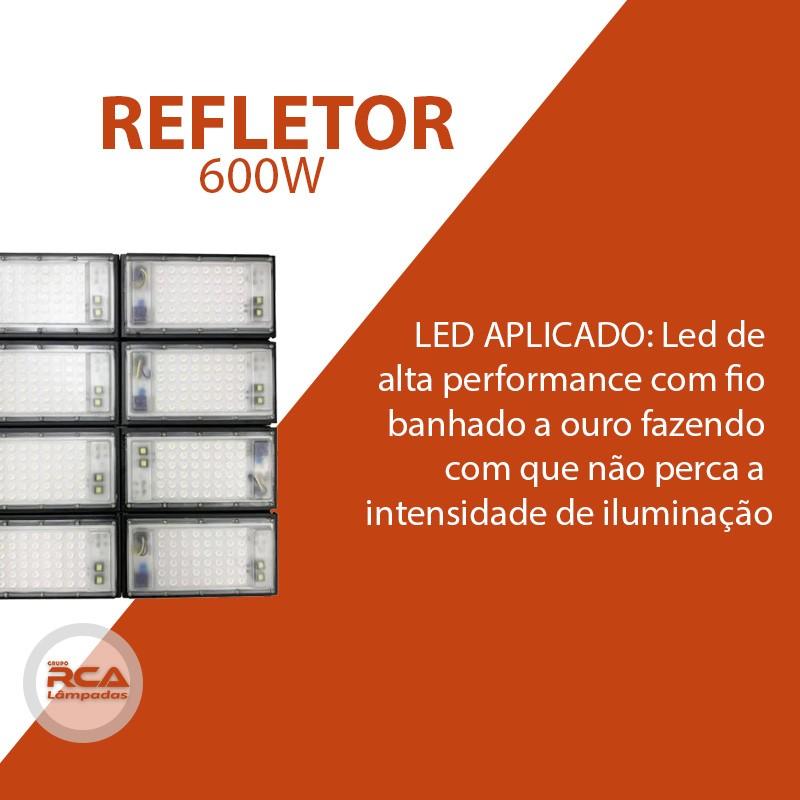 Refletor Led Modelo 2021 Flood light Number one 600w IP68 8 Modulos (Tecnologia Militar)