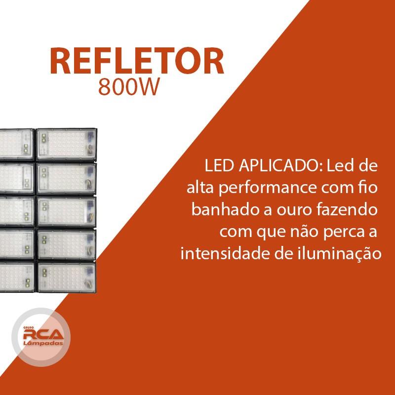 Refletor Led Modelo 2021 Flood light Number one 800w IP68 10 Modulos (Tecnologia Militar)