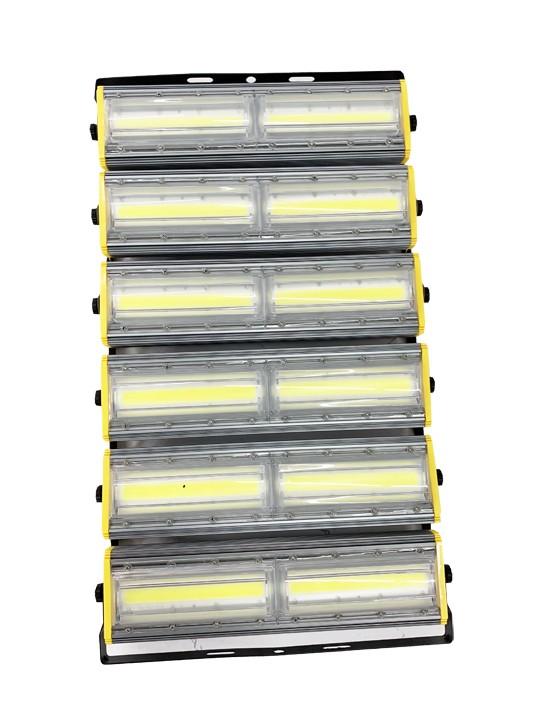 Refletor Led Modelo 2020 Flood light Linear 1200w IP68 Duplo Seis Módulos Direcionável (Tecnologia Militar)