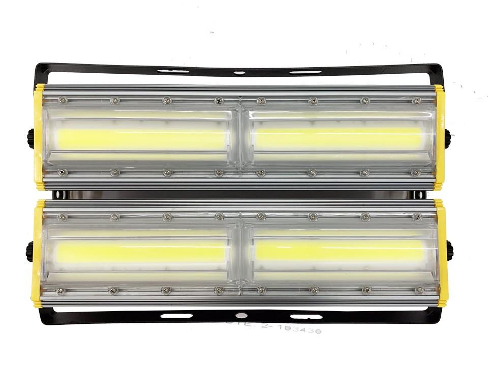 Refletor Led Modelo 2021 Flood light Linear 400w IP68 Duplo Dois Módulos Direcionável (Tecnologia Militar)