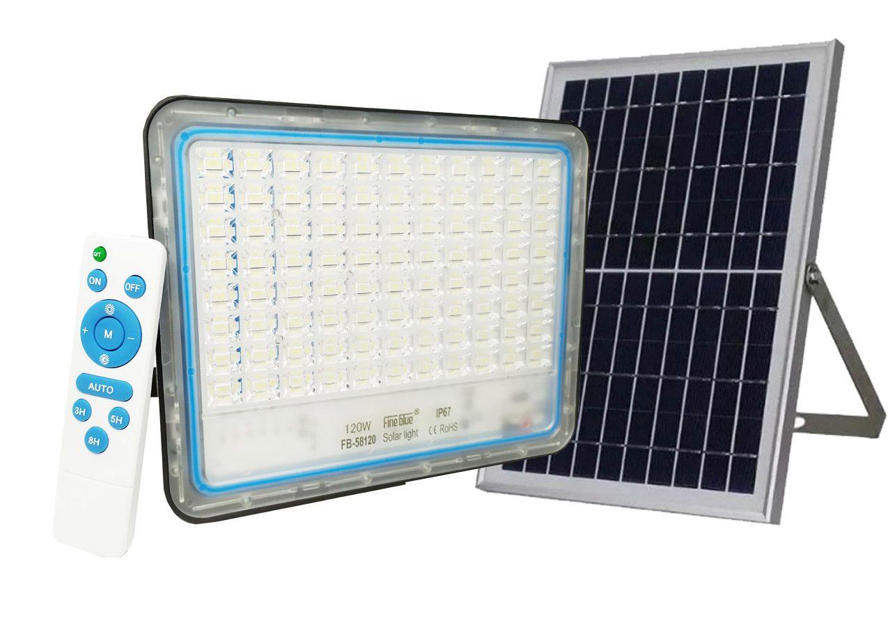 Refletor Led Solar Slim Fine Blue Samsung 120w Com controle remoto