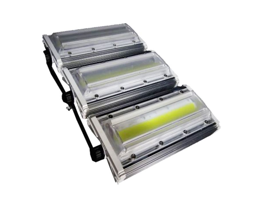 Refletor Linear Flood light Blindado 300w Três Módulos Prova D'agua - Branco Frio 6500k IP68