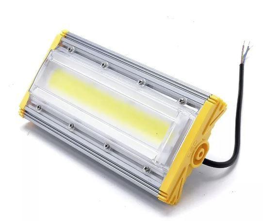 Refletor Linear Flood light Blindado 90w Um Módulo Prova D'agua - Branco Frio 6500k IP68