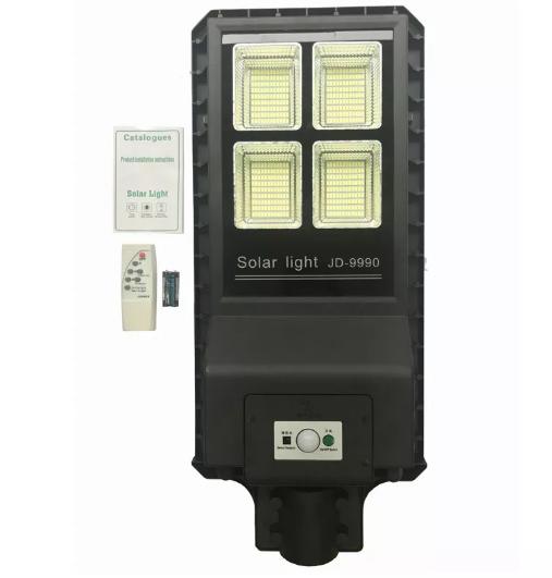Luminária Pública Poste Solar Led 100w com Sensor Number One