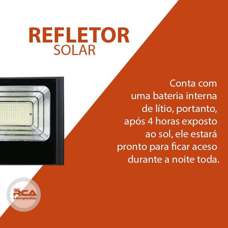 Refletor SMD Holofote Solar Ultra Led 100w IP67 Real  / Com controle Remoto