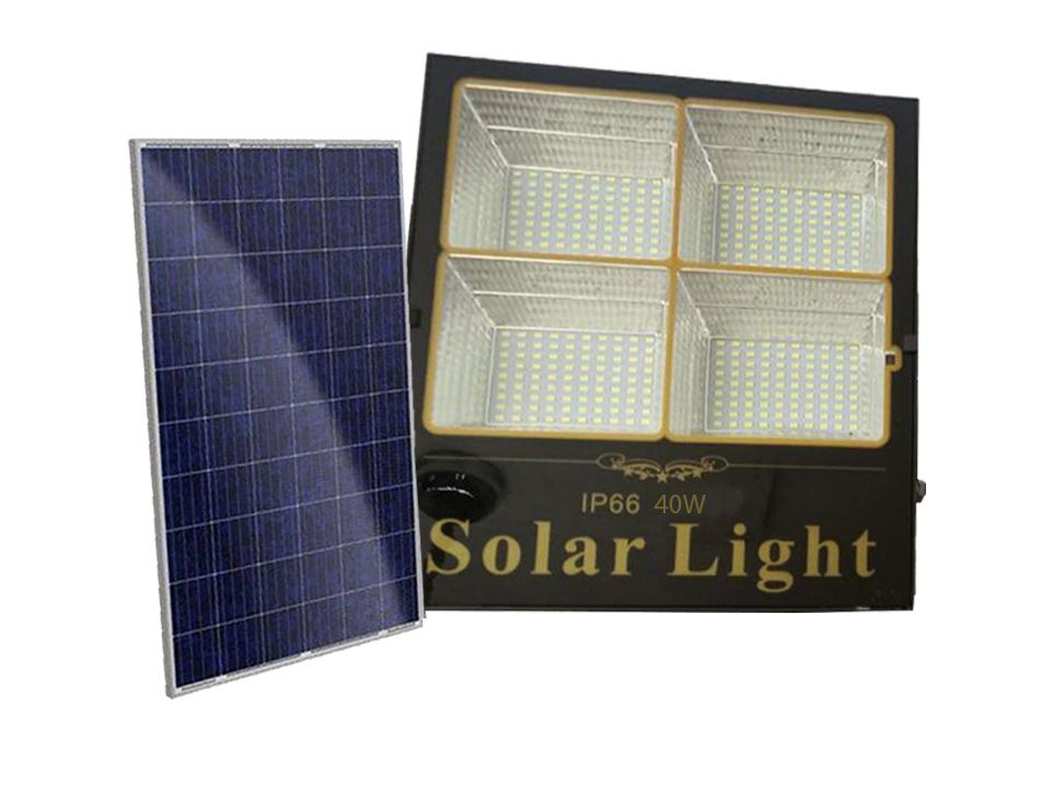 Refletor SMD Holofote Solar Ultra Led 40w Real  / Com controle Remoto