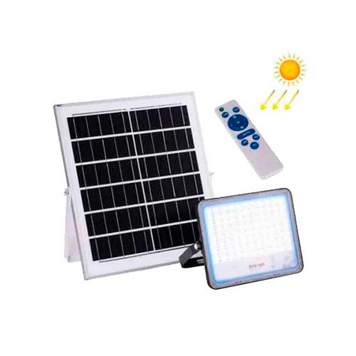 Refletor Solar Led de 60W Branco Frio | com Controle Remoto