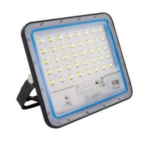 Refletor Solar Light 60W IP66   com Controle Remoto Inteligente