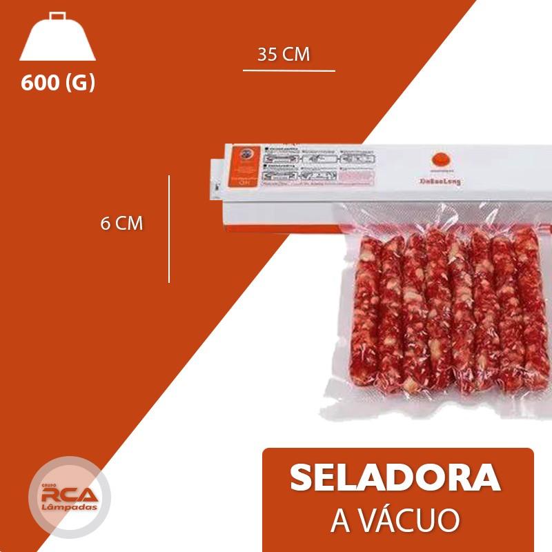 Seladora a Vacuo 110V Embaladora a vacuo 30Cm Embalar Alimentos Legumes Frutas - Freshpackpro