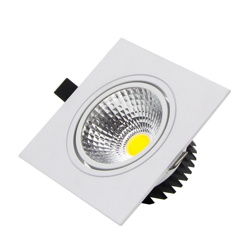 Spot Led de Embutir Quadrado 3W Bivolt 6500K Luz Branca