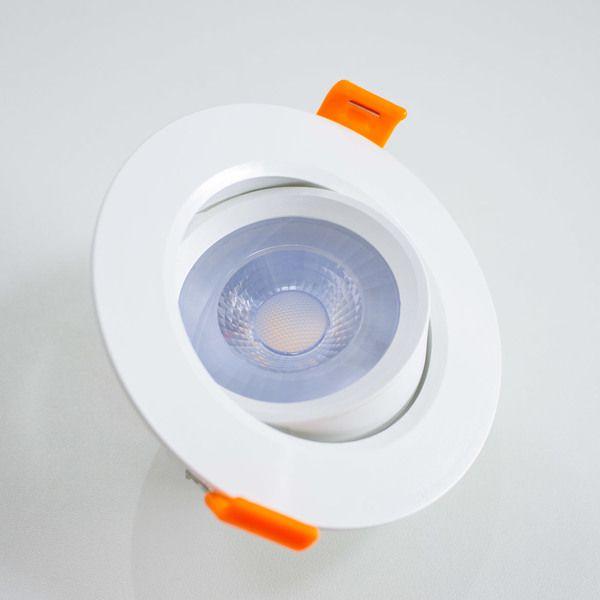 Spot Super Led 5w Redondo branco quente de embutir (Qualidade Premium)