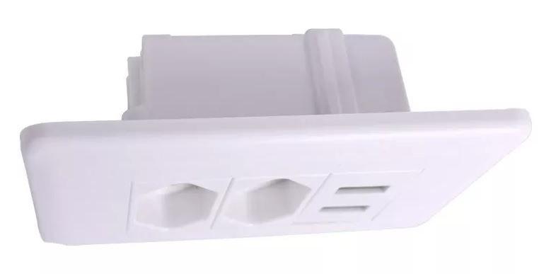 Tomada de Parede 2 Entradas USB Carregador Universal Dispositivos Celular