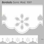 Bordado Sonic Branco 3,2cm x 10m Mod. 1001 (75% Poliéster 25% Algodão)
