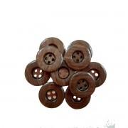 Botão Escuro estilo madeirado (10 Unidades) 2CM