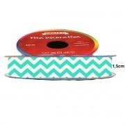 Fita de Cetim Decorativa Chevron Nº 2 10,5mm Círculo S/A