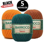 KIT 5un Barbante Barroco MaxColor 400g