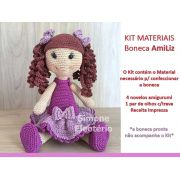 Kit Amigurumi Boneca AmiLiz - Materiais com Receita Impressa