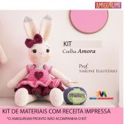 Kit Amigurumi Coelha Amora - Materiais com Receita Impressa