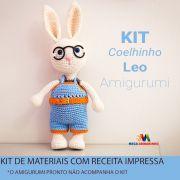 Kit Amigurumi Coelhinho LEO - Materiais com Receita Impressa