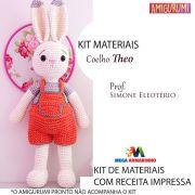 Kit Amigurumi Coelho Theo - Materiais com Receita Impressa