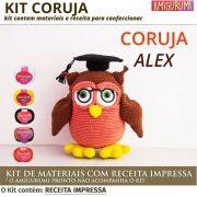 Kit Amigurumi Coruja - Materiais com Receita Impressa
