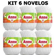Linha Anne - Kit 6 novelos cor branca