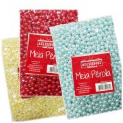 Meia Pérola ABS Colorida 6mm 250g Circulo