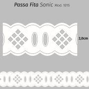 Passa Fita Sonic Branco 2,0cm x 10m Mod. 1015 ( 75% Poliéster 25% Algodão)