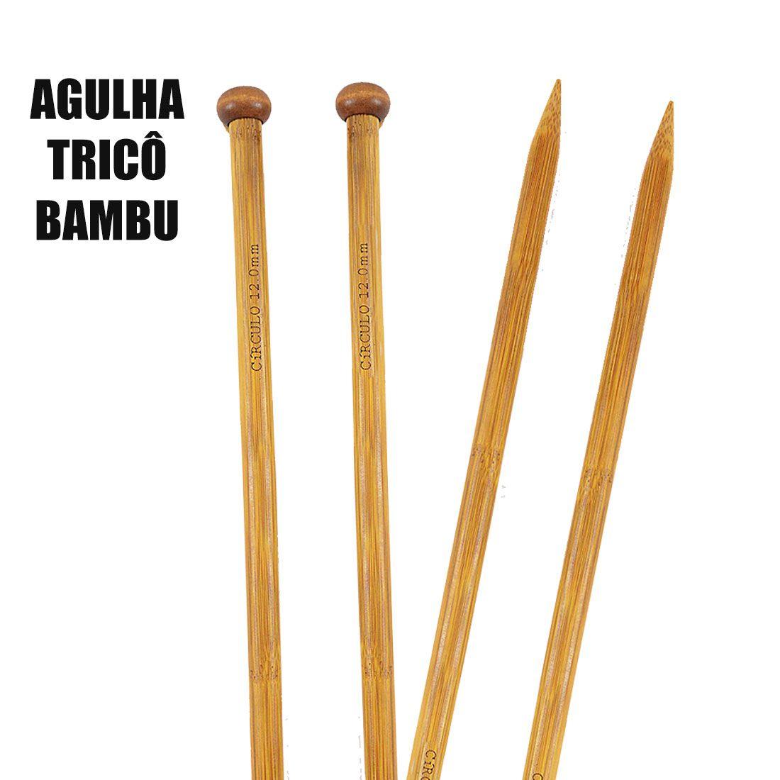 Agulha Para Tricô BAMBU ECO Circulo S/a 35cm