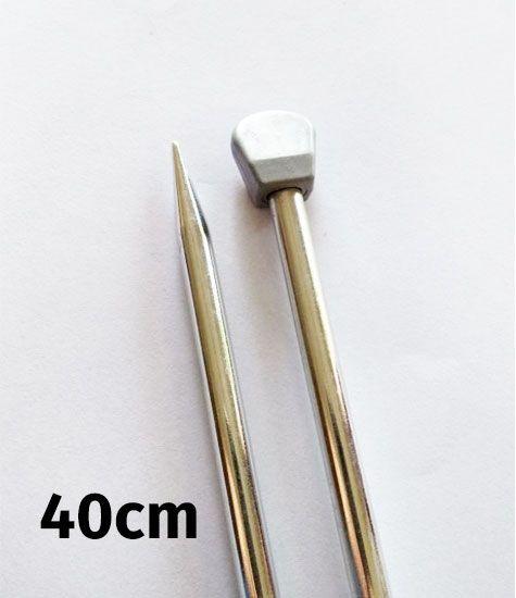 Agulha Para Tricô De Aluminio Circulo S/a 40cm