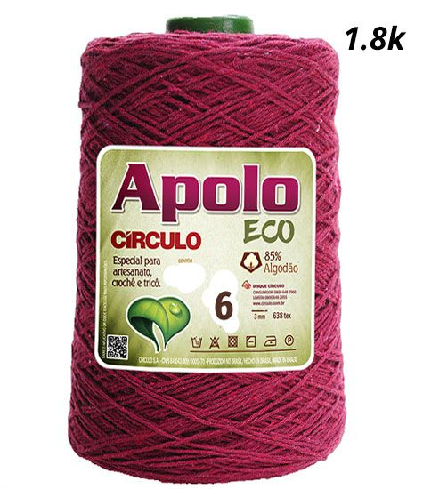 Barbante Apolo ECO Colorido 4/6 1.8Kg  Círculo S/A
