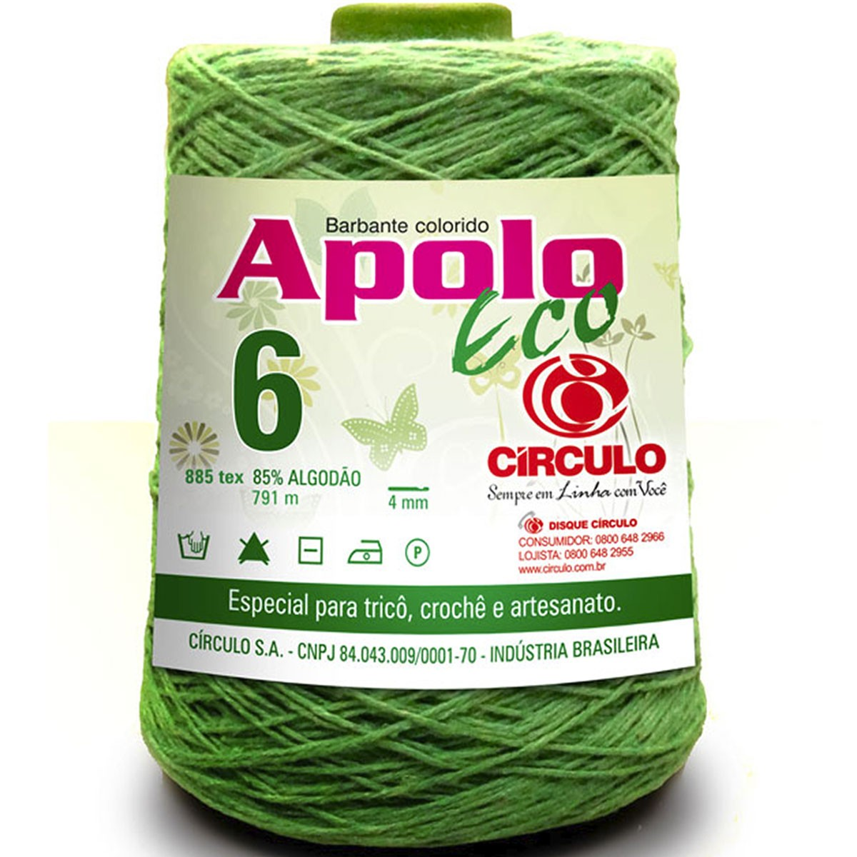 Barbante Colorido Apolo ECO 4/6 600g  Círculo S/A
