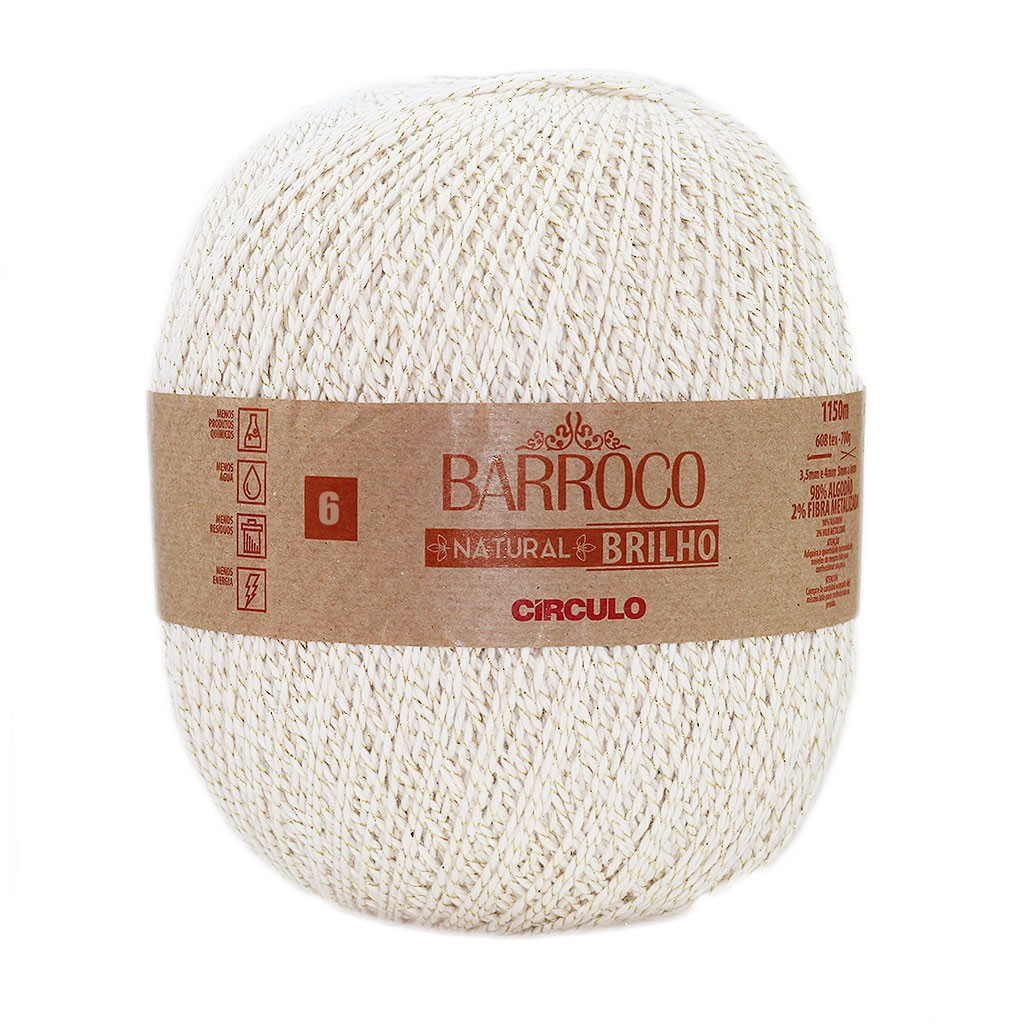 Barroco Natural Brilho Nº 6 700g
