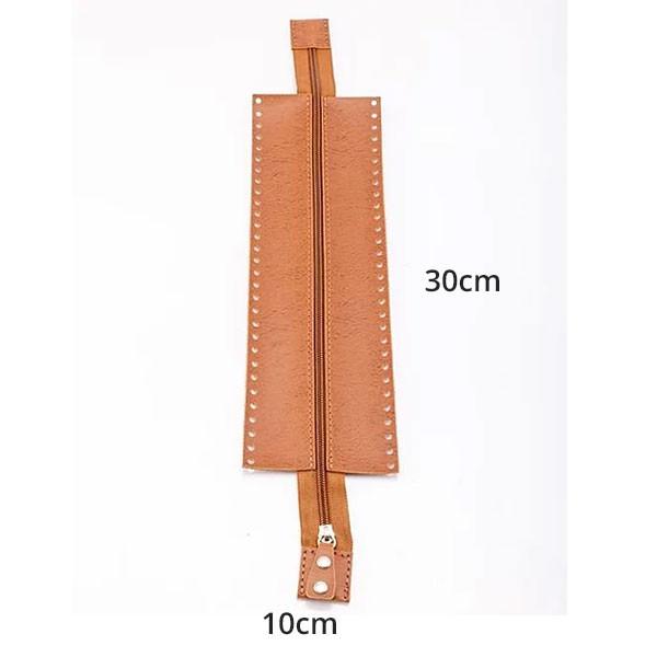 Canal de Ziper para Bolsa Niquelado 30cm x 10cm