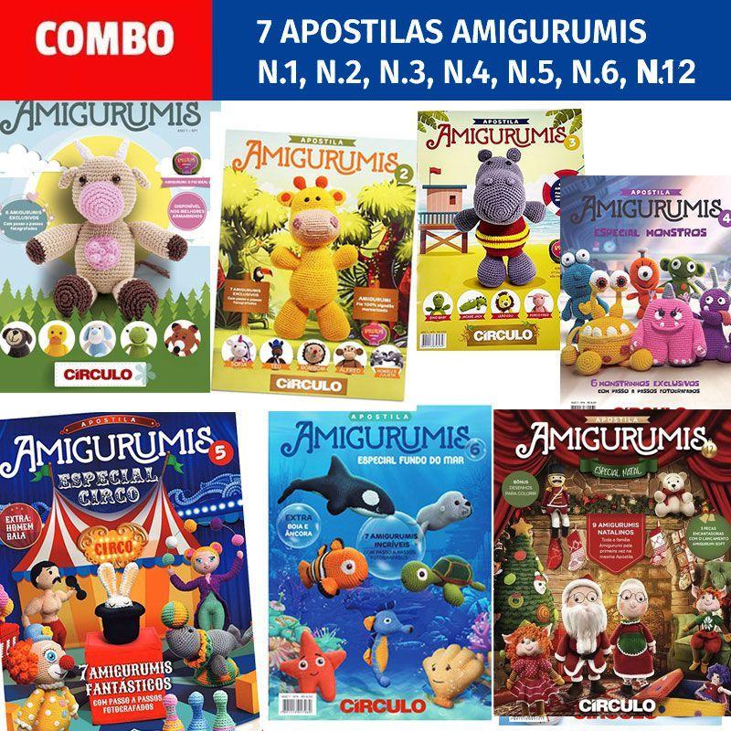 COMBO 7 Apostilas Amigurumis Círculo S/A
