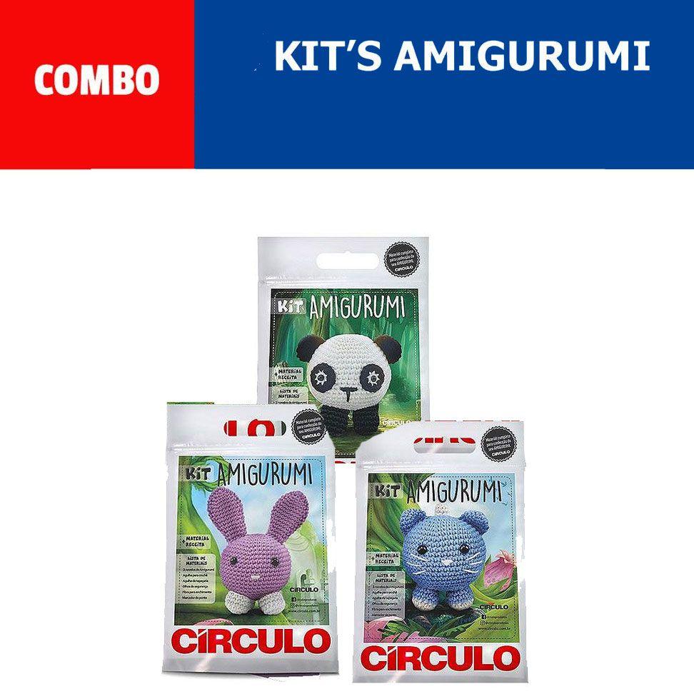 COMBO Com 3 Kit's Amigurumi Círculo