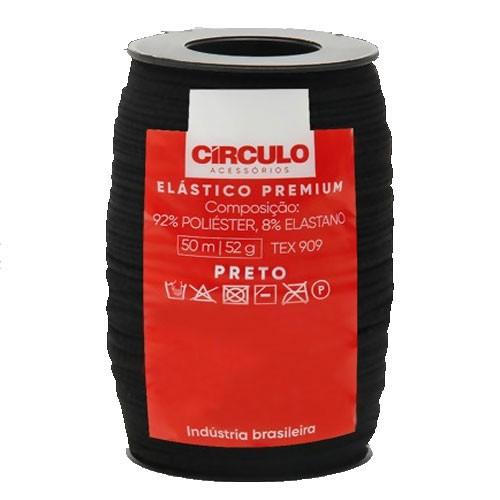 Elástico Premium Círculo 50mts PRETO