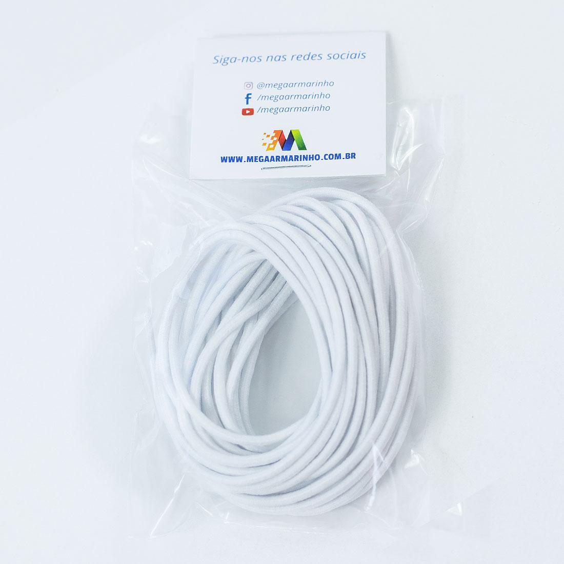 Elástico Roliço Branco (5 Metros) Círculo S/A