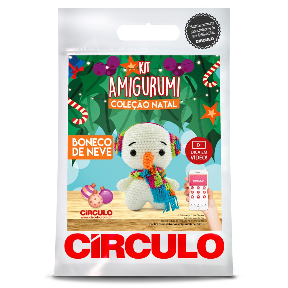 Kit Amigurumi Crochê Círculo S/A NATAL