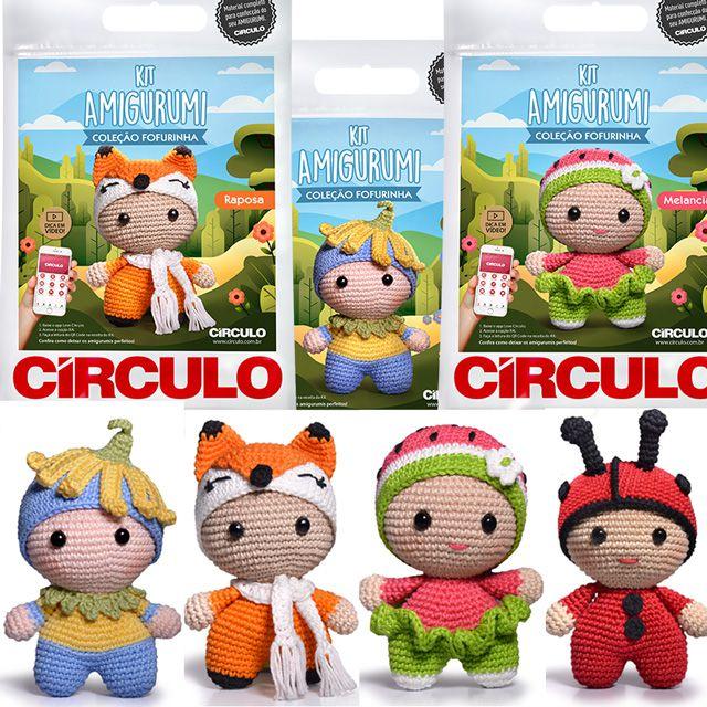 Combo C/ 4 Kit's Amigurumi Círculo (leão,gato,panda,coelho) - R ... | 640x640