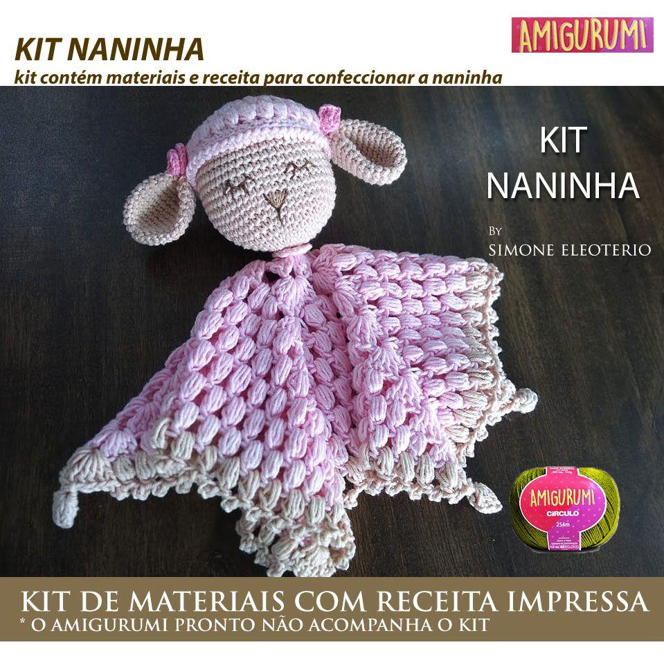 Kit Amigurumi Naninha Ovelha - Materiais com Receita Impressa