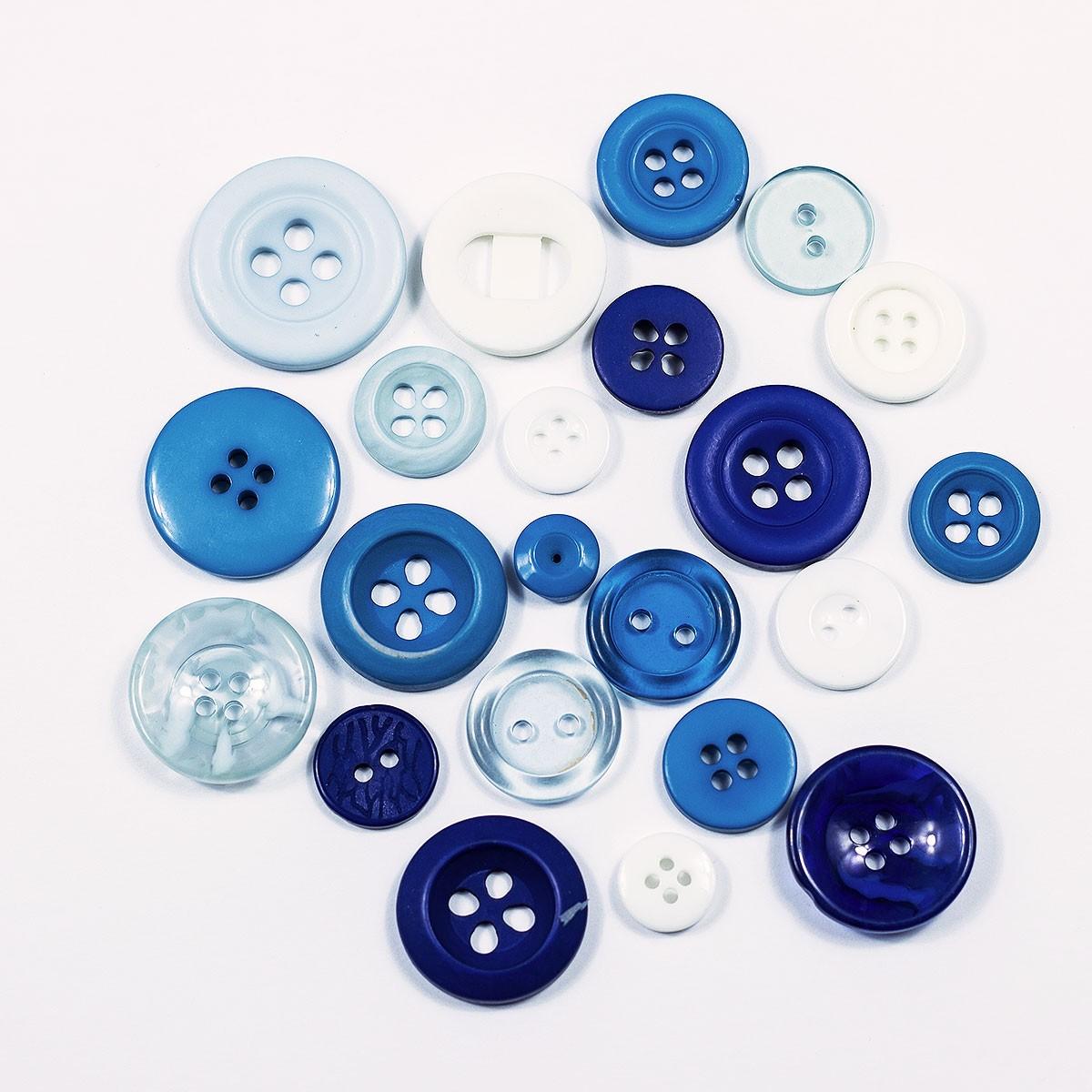 Kit Botões Sortidos Coloridos pacote c/ 100g Círculo S/A