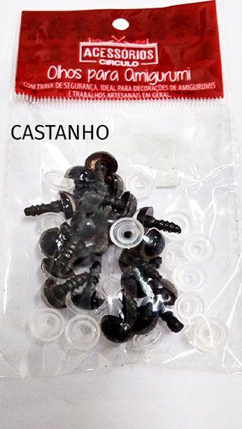 Olhos para Amigurumi 10MM Castanho 10 un Círculo S/A