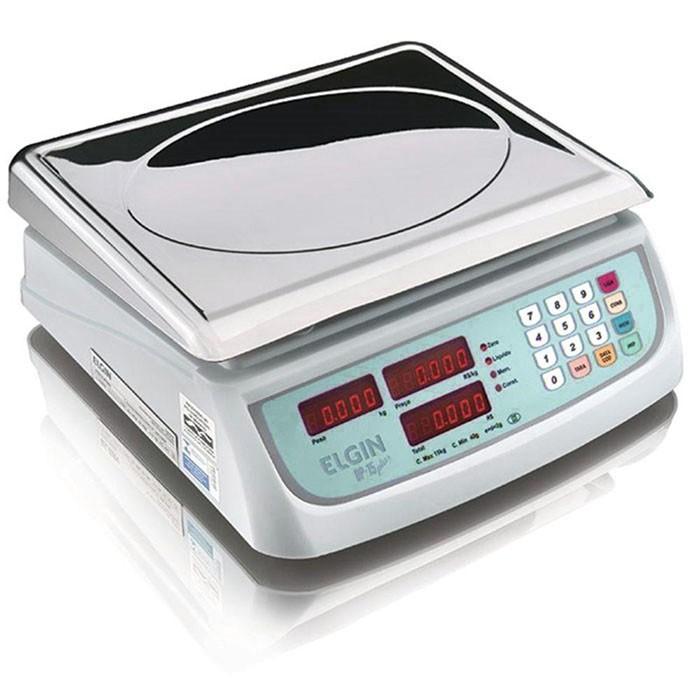 Balança Digital Computadora Elgin Com Bateria Dp15 Plus 15kg Inox