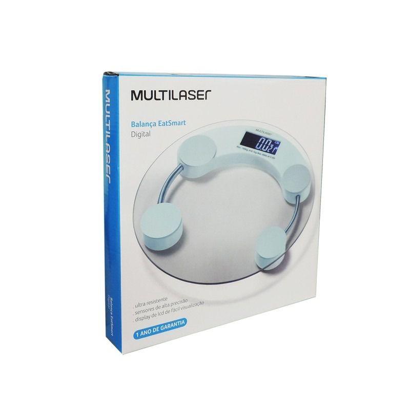 Balança Digital até 180kg Multilaser - Eatsmart HC039
