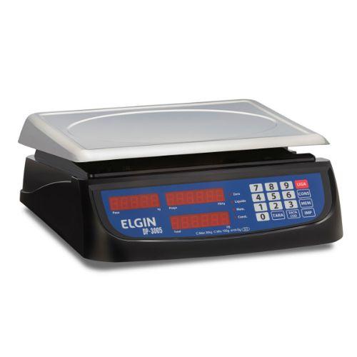 Balança Digital Computadora Com Bateria DP30 Plus 30kg Inox - Elgin