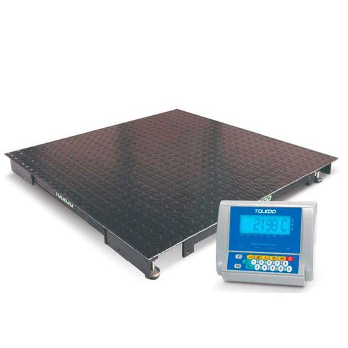 Balança Eletrônica Portátil  Toledo 2198 120x120cm 500kg com Indicador Digital 9098